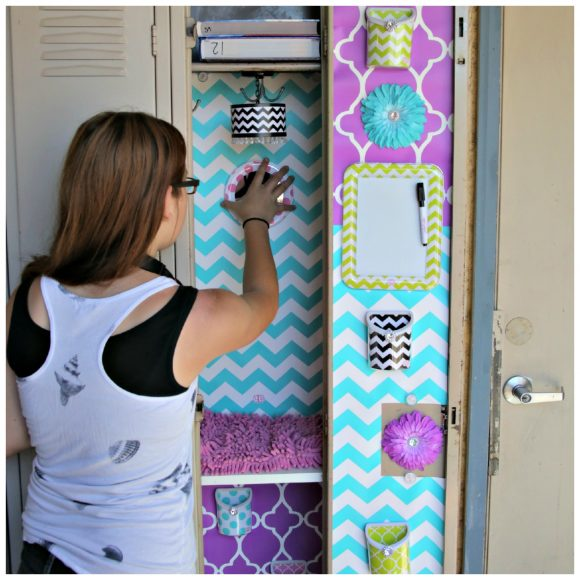 world's cutest locker with lockerlookz - premade to fit your locker and all reusable, magnetic and non-damaging