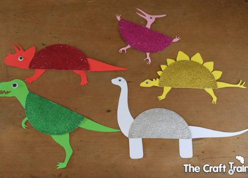 Make Paper Plate Dinosaurs