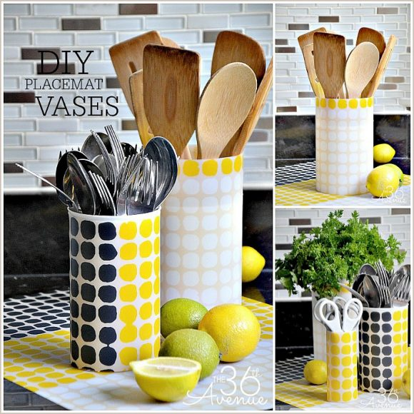 Placemat Wrapped Vases