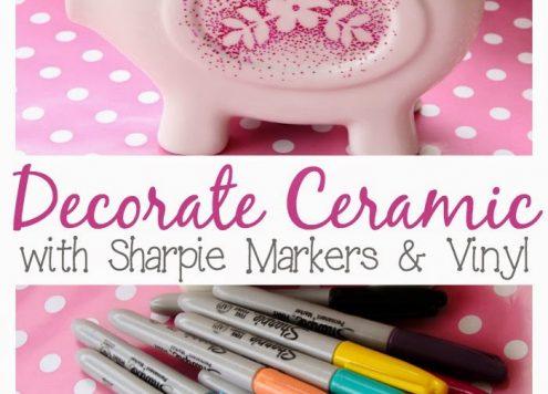 Make reverse stenciled Sharpie ceramics