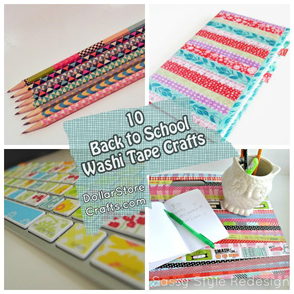 10 Back to School Washi Tape Crafts