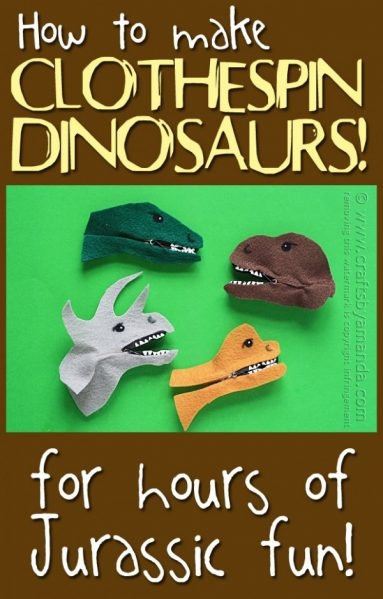 Make Dinosaur Clothespins