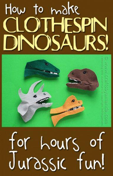 Make Dinosaur Clothespins