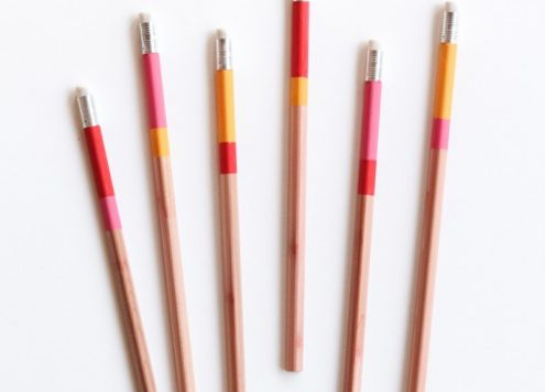 DIY Color Blocked Pencils