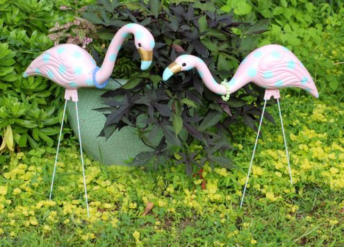 Funky Polka Dot Flamingos