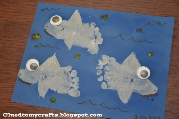 Chomp! This foot print shark craft may keep you out of the water for a while