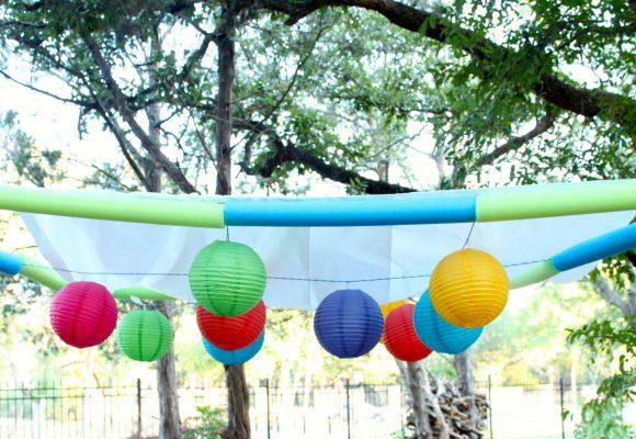 hang lanterns