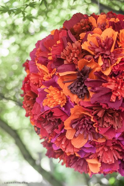 Make a Paper Flower Pinata