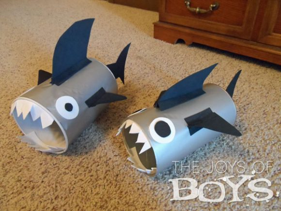 Make Recycled Canister Sharks