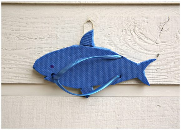Shark Flip Flop Sculpture Wall Art - DollarStoreCrafts.com