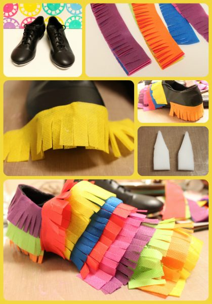 DIY Piñata Shoes Costume