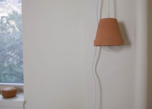 Make a Flower Pot Pendant Light