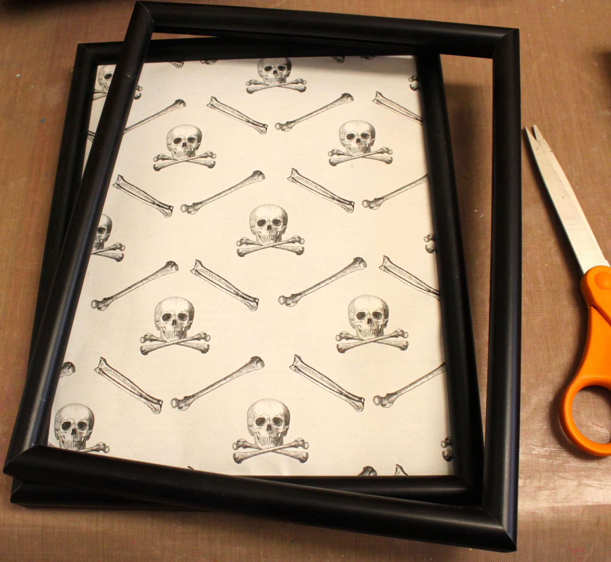 Make A Spooky Shadow Box Gallery Wall Dollar Store Crafts