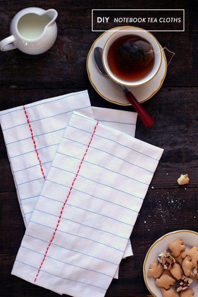 notebook tea towel