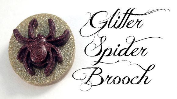 Make Glitter Spider Pins