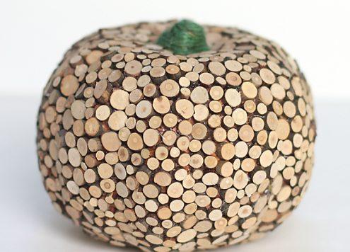 Make a Wood Slice Pumpkin
