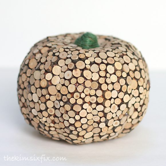 Make a Wood Slice Pumpkin