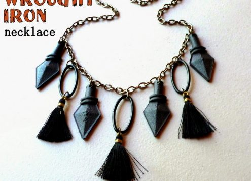faux wrought iron necklace