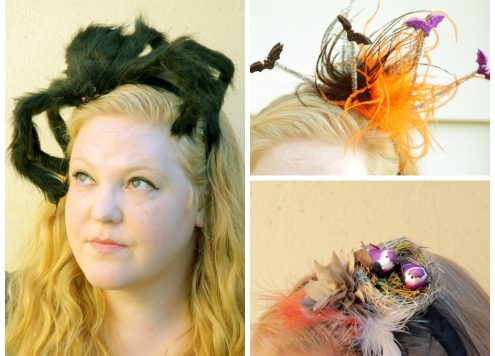 3 Creepy Headband Ideas that take 15 minutes or less to make