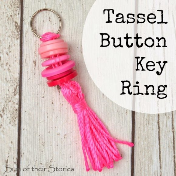 Make a Button Tassel Keychain