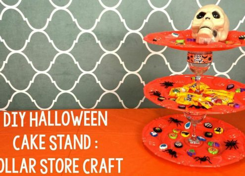 dollar store halloween treat stand