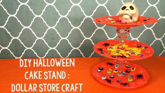 dollar store halloween treat stand