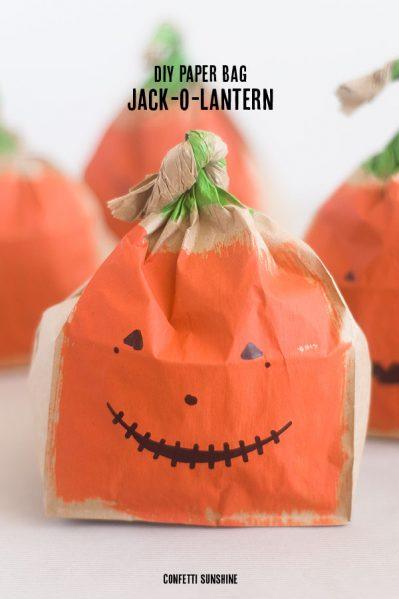 Paper Bag Jack-O-Lanterns