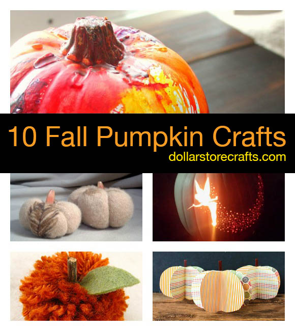 10 Pumpkin Crafts for Fall