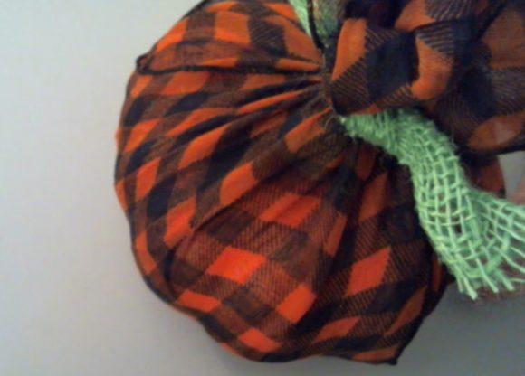 Scarf Wrapped Pumpkin