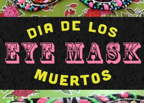 Just because you want some extra sleep doesn't mean you have to be stuck with a boring eye mask. Here's how I transformed a dollar store sleep mask, Dia de Los Muertos-style.