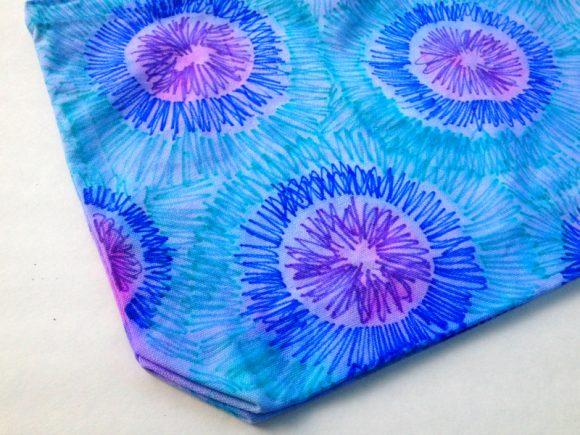 Faux Tie Dye Tote Bag
