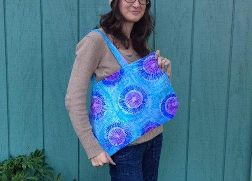 Make a Faux Tie Dye Tote Bag