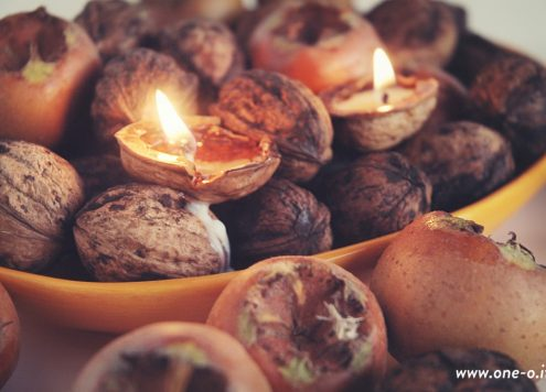 DIY nut tealights