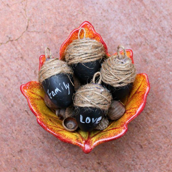 chalk paint acorns