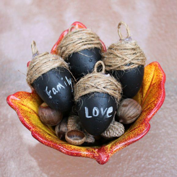 chalky acorns