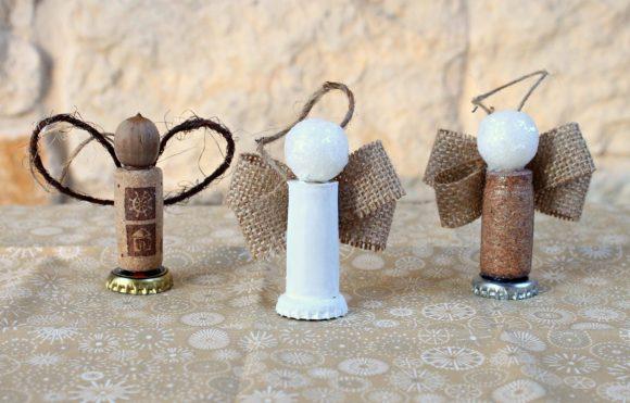 cork angel ornaments