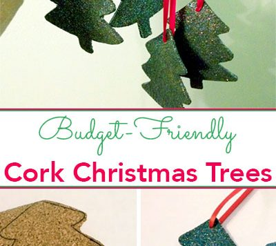 Can you guess the secret ingredient that gives these pretty cork Christmas tree ornaments their festive color?