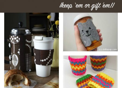 10 DIY Coffee Cozies to Keep or to Gift