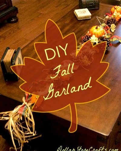 This festive fall garland would look phenomenal swagged across a fall mantle or over a doorway. And it's perfect to decorate your house for Thanksgiving dinner!