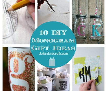 10 DIY Monogram Gift Ideas for Holiday Giving