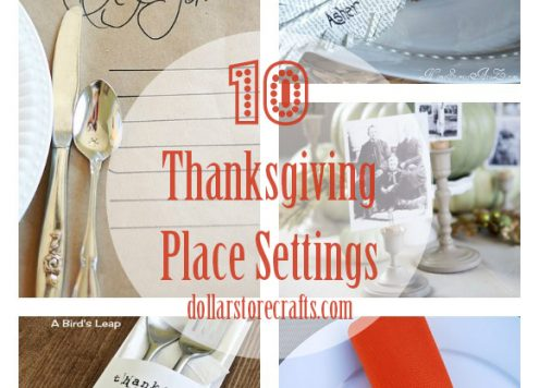 10 DIY Thanksgiving Place Settings