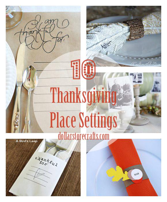 10 DIY Thanksgiving Place Settings