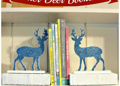 Glitter Deer Bookends Tutorial