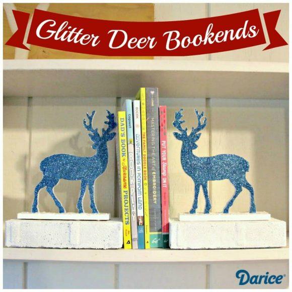 Glitter Deer Bookends Tutorial