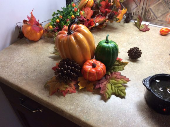 Yes, you can make this beautiful silk Thanksgiving centerpiece and use it for years to come!