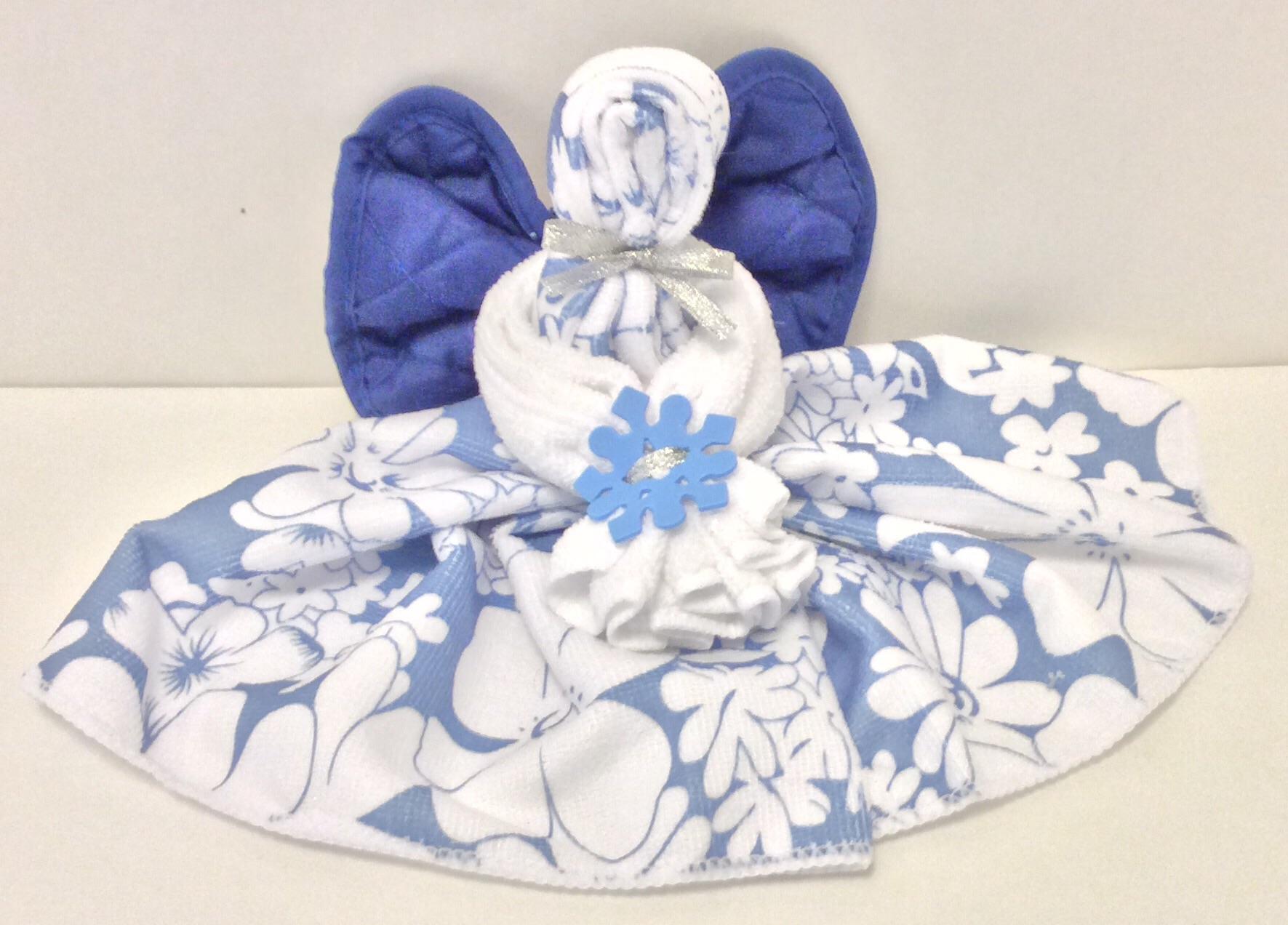tutorial kitchen towel angels dollar store crafts