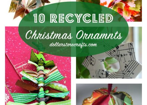 10 DIY Recycled Christmas Ornaments