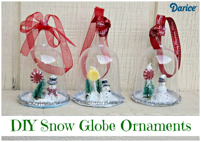 Snowglobe Ornaments From Dollar Store Party Goblets