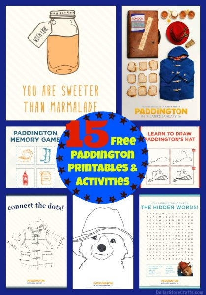 15 Free Paddington Printables