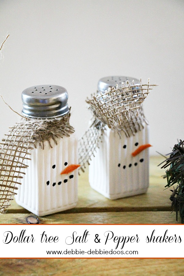 Make Snowman Salt and Pepper Shakers » Dollar Store Crafts